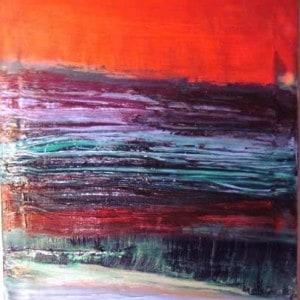 June Kaplan Painting - By Yonder Window Breaks