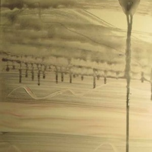 June Kaplan Painting - Fan Dancer