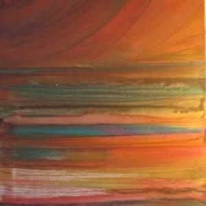 June Kaplan Painting - Landscape