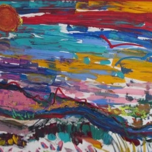 June Kaplan Painting - Louse Point