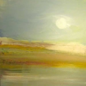 June Kaplan Painting - Moondance