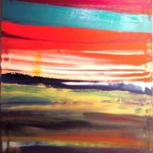 June Kaplan Painting - Nor Easter