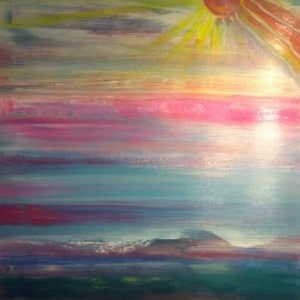 June Kaplan Painting - Promise Kept