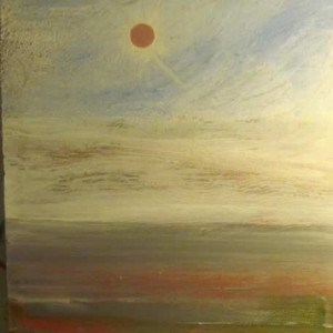 June Kaplan Painting - Silver White Winters
