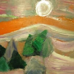 June Kaplan Painting - Silver Sun