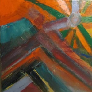 June Kaplan Painting - That Time of Day