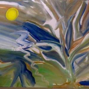 June Kaplan Painting - Twilight Lightly