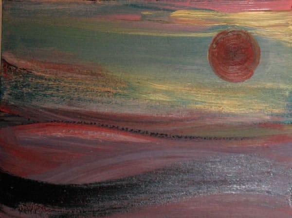 June Kaplan Painting - Idyllic