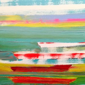 June Kaplan painting - Sister Ships