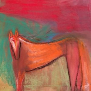 horse pastel drawing
